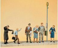 модель Preiser 10414 Люди, ждущие автобус,6 шт.