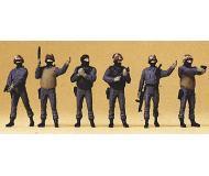 модель Preiser 10446 Подразделение спецназа федеральной полиции Германии