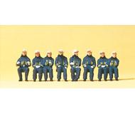 модель Preiser 10483 Пожарная команда (сидящие пожарные, для размещения в пожарном автомобиле и тп), 8 шт.