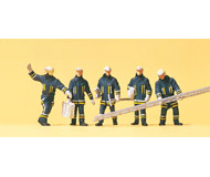 модель Preiser 10484 Пожарная команда с аксессуарами, 5 шт.