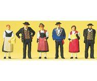 модель Preiser 10509 Люди в национальных костюмах, 6 шт.