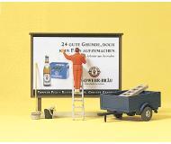 модель Preiser 10526 Расклейщик плакатов.