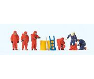 модель Preiser 10730 Пожарные в костюме хим.защиты красного цвета.