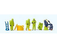модель Preiser 10731 Пожарные в костюме хим.защиты зеленого цвета.