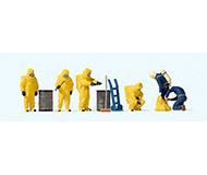 модель Preiser 10733 Пожарные в костюме хим.защиты желтого цвета.
