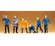 модель Preiser 14201 Набор Пожарная команда 19-20 века, 6 шт.