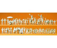 модель Preiser 16342 Набор неокрашенных фигурок: ярмарка,  60шт.