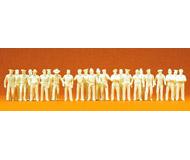 модель Preiser 16345 Набор неокрашенных фигурок: люди в униформе