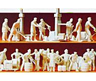 модель Preiser 16348 Набор неокрашенных фигурок - рабочие на складе 21шт.