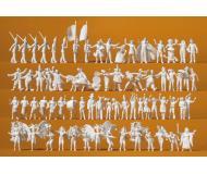 модель Preiser 16355 Набор неокрашенных фигурок - на карнавале, 68 шт.