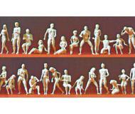 модель Preiser 16400 Адам и Ева, набор неокрашенных фигурок, 26шт.