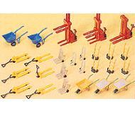 модель Preiser 17107 Тачки, тележки, погрузчики, всего 26шт.