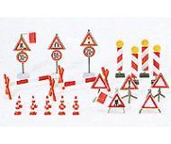 модель Preiser 17176 Знаки и заграждения для проведения дорожных работ