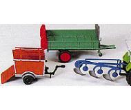модель Preiser 17918 Плуг разведения, разбрасыватель песка или навоза, прицеп для перевозки свиней