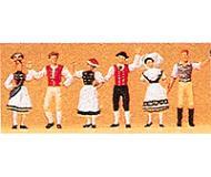 модель Preiser 24604 Люди в национальных костюмах Германии, 6 фигурок