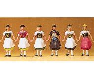 модель Preiser 24607 Баварская группа костюмов, 6 фигурок