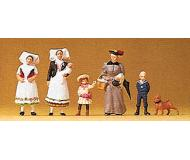 модель Preiser 24608 Женщины и дети 1900год, 6фигурок