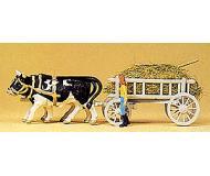 модель Preiser 30472 Повозка запряжённая быками.