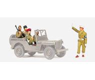 модель Preiser 72529 Союзники в конце 1945 года. Военная полиция - Вена. 5 неокрашенных фигурок.