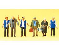 модель Preiser 75046 Сотрудники помогают пожилым людям на вокзале