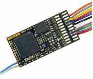 модель Roco 10890 Звуковой декодер с проводами и 8-контактным разъемом (NEM 652), с функцией RailCom.  Максимальный ток двигателя 1,2 А. Декодер оснащен предустановленным звуком ZIMO. (ZIMO MX645R)