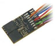 модель Roco 10892 Звуковой декодер с проводами и 8-контактным разъемом (NEM 652), с функцией RailCom.  Максимальный ток двигателя 0,8 А. Декодер оснащен предустановленным звуком ZIMO.