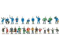 модель Roco 40000 Фигурки пассажиров и железнодорожного персонала, неокрашенные, светло-коричневого цвета, всего 24 шт. На фото показаны окрашенные фигурки