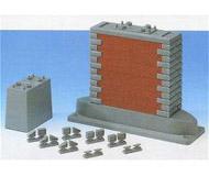 """модель Roco 40082 Опора моста, идеальна при использовании с мостами ROCO 40081 и 40080, но может использоваться также и с мостами других производителей. Состоит из нескольких деталей – 2 секции опоры, устанавливаемые одна на другую, боковые пластины """"под кирпич"""", другие дополнительные элементы конструкции. Высота опоры 94 мм"""
