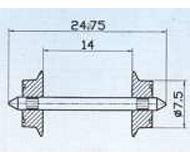 модель Roco 40184 AC-Radsatz-Paar 7.5mm для переменного тока