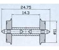 модель Roco 40192 Комплект колесных пар, диаметр 11 мм.