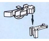 модель Roco 40287 Стандартная сцепка, применяемая в моделях ROCO, с длинной защелкой. Сама сцепка и основание разделяемые, причем имеется возможность регулировать высоту сцепки над рельсами, в упаковке 2 шт.