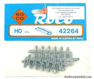 модель Roco 42264 Комплект из 24 изолирующих переходных контактов для соединения рельсовых участков. Высота рельса 2.5 мм