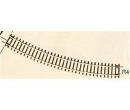модель Roco 42424 Радиусный рельс R4 481.2mm 30° Высота рельса 2.1 мм. На полный круг требуется 12 штук. В упаковке - 12 шт. Цена указана за 1 шт.