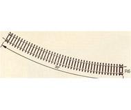 модель Roco 42426 Радиусный рельс R6 604.4mm 30° Высота рельса 2.1 мм. На полный круг требуется 12 штук. В упаковке - 12 шт. Цена указана за 1 шт.