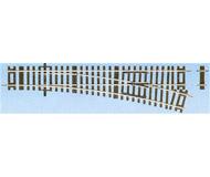 модель Roco 42441 Стрелка прямая правая WR15. Длина прямого участка 230мм, радиус 873,5 мм, угол поворота 15 градусов В комплекте прилагается компенсационный рельс D8 длиной 8 мм. Высота рельса 2.1 мм