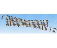 модель Roco 42448 Стрелка частично перекрестная. С одного пути состав может двигаться только прямо, с другого пути состав может двигаться прямо или в сторону. Длина прямого участка 230мм, угол поворота 15° В комплекте прилагаются компенсационные (выравнивающие) рельсы. Высота рельса 2.1 мм. Переключающие механизмы в комплект не входят, их нужно покупать отдельно. К данной стрелке подходят механизмы 40295, 40297, 10030.