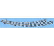 модель Roco 42476 Стрелка радиусная R9/10 левая BWl 9/10 . Угол 30°, внутренний радиус 826,4мм (R9), внешний радиус - 888мм (R10).Высота рельса 2.1 мм. Переключающие механизмы в комплект не входят, их нужно покупать отдельно. К данной стрелке подходят механизмы 40295, 40297, 10030.