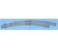 модель Roco 42477 Стрелка радиусная R9/10 правая BWR 9/10 . Угол 30°, внутренний радиус 826,4мм (R9), внешний радиус - 888мм (R10).Высота рельса 2.1 мм. Переключающие механизмы в комплект не входят, их нужно покупать отдельно. К данной стрелке подходят механизмы 40296, 40298, 10030.