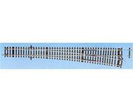 модель Roco 42489 Стрелка прямая правая WR-10. Длина прямого участка 345мм, радиус 1946 мм, угол поворота 10°. В комплекте прилагается компенсационный рельс D5 длиной 5 мм. Высота рельса 2.1 мм. Переключающие механизмы в комплект не входят, их нужно покупать отдельно. К данной стрелке подходят механизмы 40295, 40297, 10030.