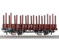 модель Roco 46031 Двухосная платформа со стойками