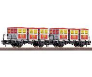 модель Roco 46997 Набор из двух платформ с контейнерами Rei Fleckensalz.