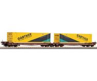модель Roco 47543 Платформа для перевозки контейнеров, с контейнерами Gartner