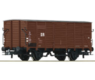 модель Roco 56234 Двухосный товарный вагон G10 DR. Принадлежность Германия, DR. Эпоха III. Длинна 110 мм.