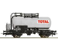 """модель Roco 56259 Двухосная цистерна """"TOTAL"""" SNCF. Принадлежность Франция, SNCF. Эпоха IV. Длинна 102 мм."""