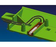 модель Roco 61193 Магнитный контакт, устанавливается под балластной призмой и реагирует на прохождение поезда, замыкая при этом контакты и, соответственно, 2 провода, выведенные на разъем
