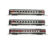 модель Roco 64143 Набор из трёх вагонов, тип EW IV. Принадлежность Швейцария, SBB