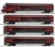"""модель Roco 64189 Состав """"Railjet"""" из 4 вагонов с декодером DCC"""