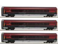"""модель Roco 64191 Набор из трёх вагонов 2 класса """"Railjet"""""""