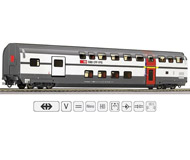 """модель Roco 64853 Двухэтажный пассажирский вагон 1 класса с сервисным купе, тип AD """"IC 2000"""". Принадлежность Швейцария, SBB"""