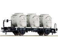 "модель Roco 66267 Платформа  с 3 контейнерами ""Von Haus zu Haus-Behaltern"", тип Lbs. Принадлежность DB. Эпоха IV"